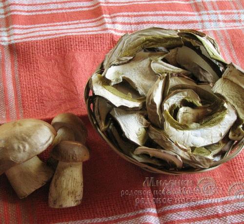Белые грибы сушеные