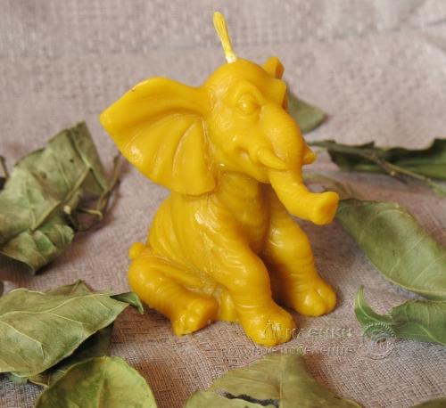 Свеча восковая -Слоненок-