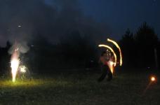 Шоу Cемёна с факелами