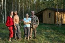 Семен, Аня и Галя с Сашей