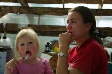 Ольга с дочкой Ритой