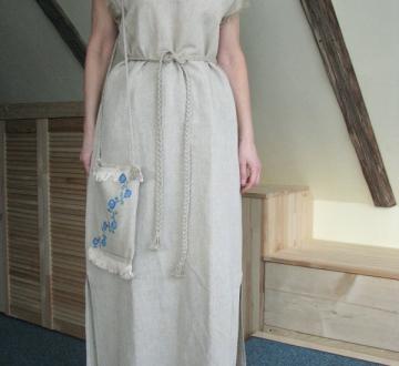 Платье-рубаха -Ленок-