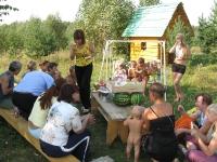 Гости с подарками в поселении
