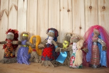 Шерстяные куклы