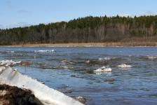 Ледоход и разлив на Угре