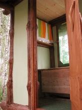 Внутри домика для сна